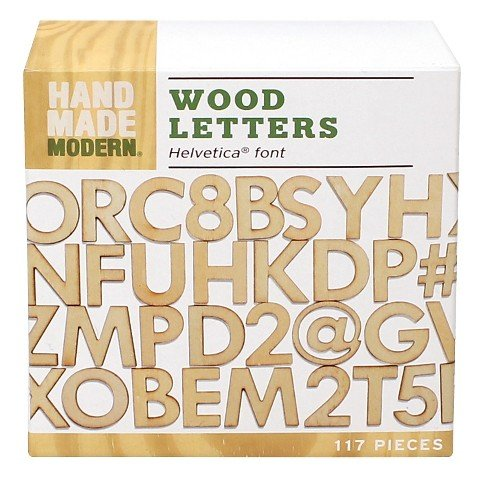 Hand Made Modern- Wooden Letters-Helvetica