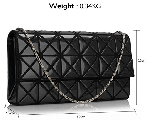 Small Black CWE00316 Leather Women's Purse Ladies CWE00264A Clutch CWE00300 Faux Gorgeous Size Designer Fashion Quality Evening Flap Bag Celebrity CWE00264 HUr7wHxEqz