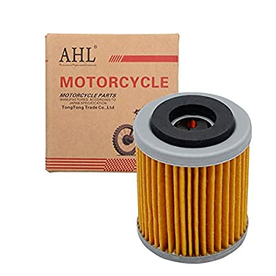 AHL 142 Oil Filter for Yamaha YFM350X Warrior 350 1987-2004(yellow): Automotive