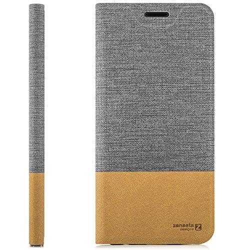 Funda Huawei Mate 9 Pro Case Cubierta Carcasa Flip Cover Tapa Delantera con Billetera para Tarjetas, Cierre Abatible - Protectora de Alta Calidad | Gris Gris