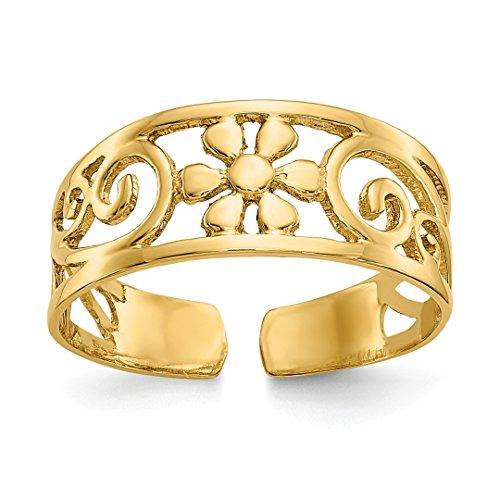 al Adjustable Cute Toe Ring Set Fine Jewelry For Women Gift Set ()