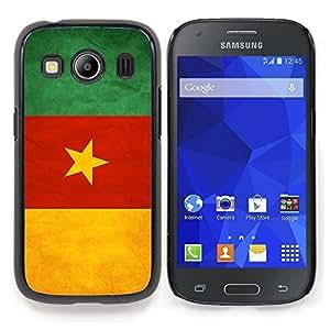 "Qstar Arte & diseño plástico duro Fundas Cover Cubre Hard Case Cover para Samsung Galaxy Ace Style LTE/ G357 (Bandera nacional de la Serie-Camerún"")"