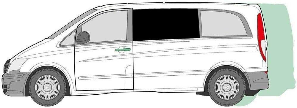Just Kampers - Cortinas para Puerta corredera opuesta Izquierda Mercedes Vito (LHD) 2004-2014: Amazon.es: Coche y moto