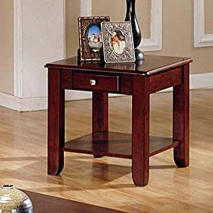 Lovely Logan Cherry End Table By Lauren Wells