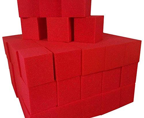 Foam-Pits-BlocksCubes-1000-pcs-Red-8x8x8-1536-Foam-Pits-Gymnastic-Pits-Trampoline-Pits-Skateboard-Pits-Children-Play-Foam-Blocks-Indoor-Rock-Climbing-Trampoline-Foam-Pits