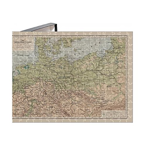- Media Storehouse 252 Piece Puzzle of North German Lowland map, 19th Century View, Lithograph, published (14756494)