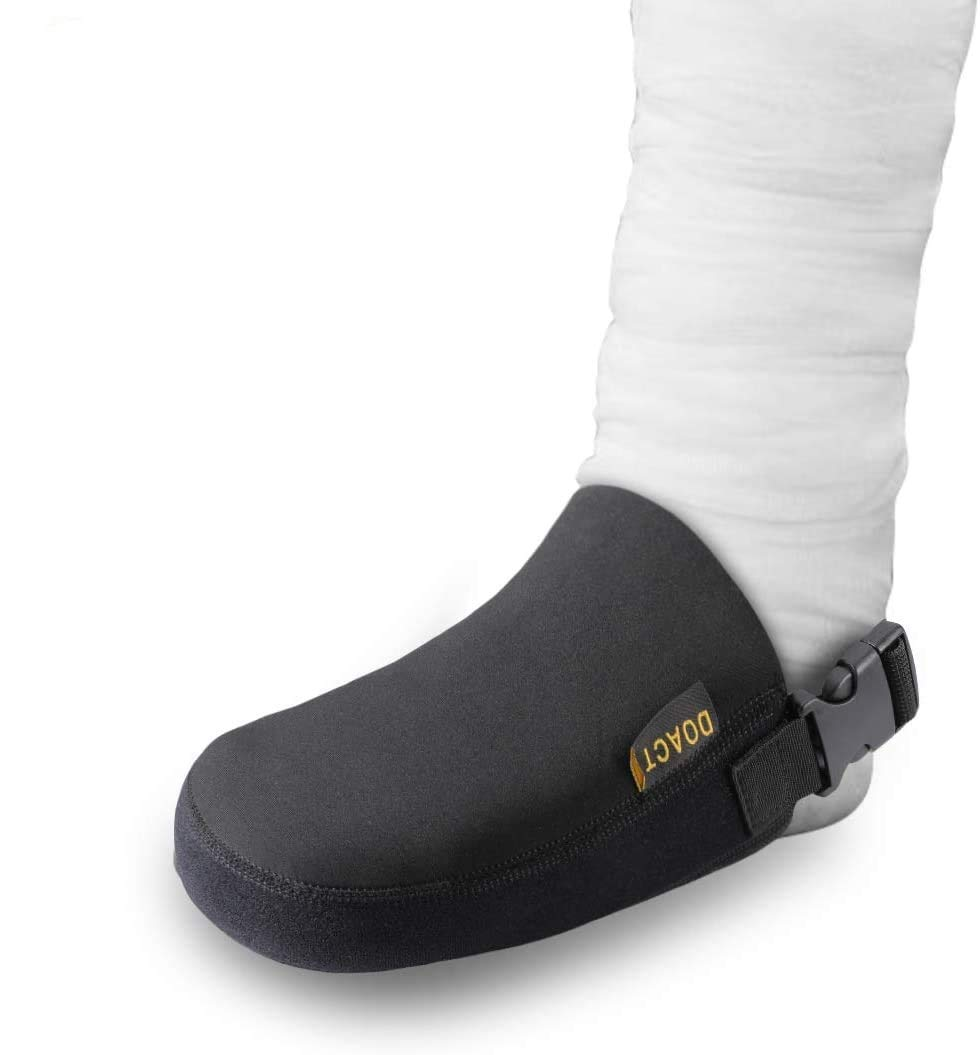 DOACT Cast Sock Cover Foot Toe with Anti-Slip Strap, Protect Cast Walking Boot and Orthosis Splints Braces Clean, Adjustable and One Size Fits Most