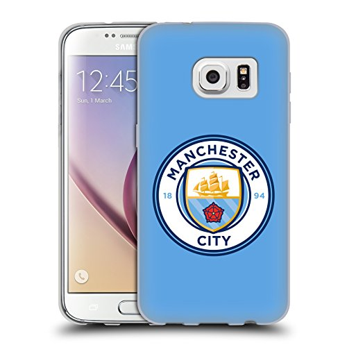 Official Manchester City Man City FC Blue Full Colour Badge Soft Gel Case for Samsung Galaxy - Blf Phone
