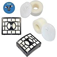 HQRP 2-pack Filter Kit for SharkRotator NV800 NV800W NV801 NV802 NV803 UV810 Powered Lift-Away Speed Vacuum Cleaner (HEPA+ Foam & Felt) plus HQRP Coaster