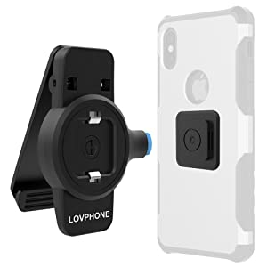 Phone Belt Clip,Lovphone Universal Holder with Quick Mount,Easy to Loading and Unloading for iphone X,8,8 Plus,7,7 plus, 6, 6s Plus, 5s and Samsung Galaxy Note 8,S8 S7 S6 Edge, LG and More