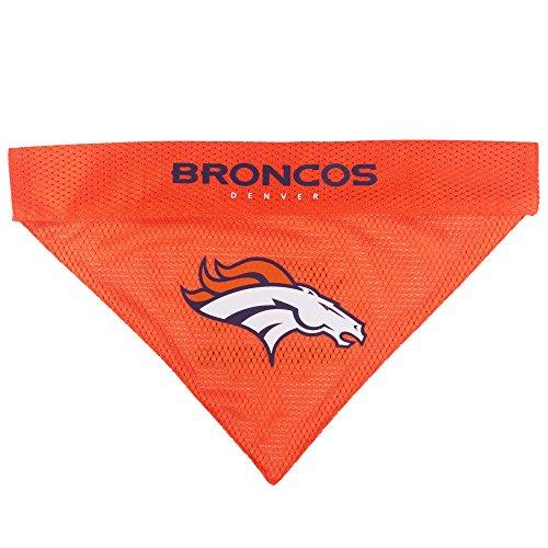 Image of Pets First NFL Dog Bandana - Denver Broncos Reversible PET Bandana. 2 Sided Sports Bandana with a Premium Embroidery Team Logo, Large/X-Large. - 2 Sizes & 32 NFL Teams Available