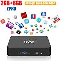 Android Tv Box 2gb Ram 8gb Rom,Z Pro Android 7.1 Smart Tv Box 64 Bit Amlogic Quad Core 4K Ultra HD 2.4G Wifi (2017Update)