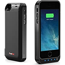 PowerBear Rechargeable Battery Case with Built in USB PowerBank for iPhone 5S / iPhone 5C / iPhone 5 - Black [24 Month Warranty and Screen Protector Included]