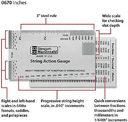 stewmac cuerdas Acción Gauge y regla Herramienta de medición ...