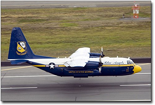 Blue Angels C-130 Hercules 'Fat Albert' Landing 12x18 Silver Halide Photo Print
