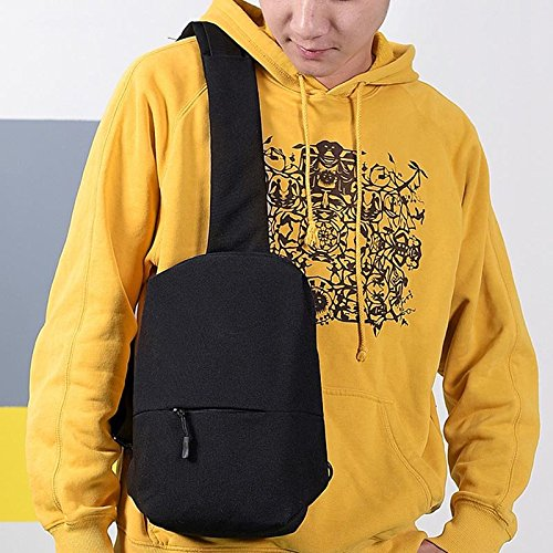 Shoulder Cycling Men Bag Chest For Zipper Phone Durable Crossbody Black Small Mobile Outdoor Crewell wgqaE1cE