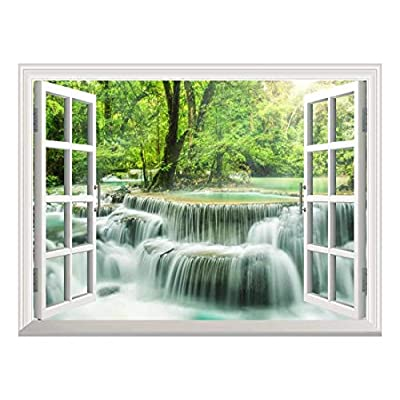 Removable Wall Sticker Wall Mural Waterfall in Thailand...