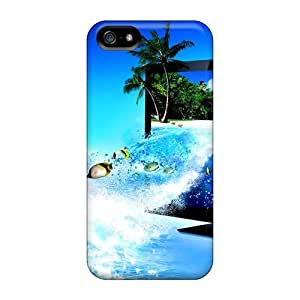 Iphone 5/5s Hard Back With Bumper Silicone Gel Tpu Cases Covers 3d Tv