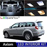 LEDpartsNow 2002-2004 Isuzu Axiom LED Interior Lights Accessories Replacement Package Kit (6 Pieces), WHITE +TOOL