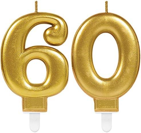 4 Deko-Zahlen /'60/' gold
