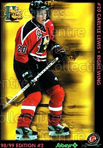 (CI) Carlyle Lewis Hockey Card 1998-99 Halifax Mooseheads Series Two 9 Carlyle Lewis