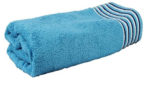 Trident 450 GSM Candy Strips Medium Bath Towel- Blue