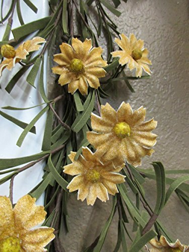 Rustic Country Primitive Tea Stained Daisy Garland Farmhouse Floral Decor by Unknown (Image #1)