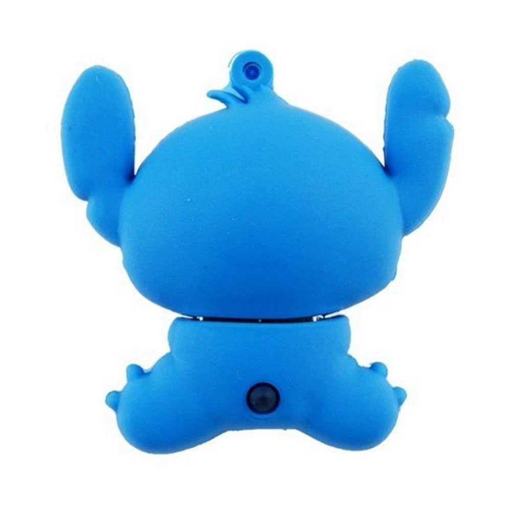 QICAIHU Novelty Stitch Blue Shape Design 16GB USB 2.0 Flash Drive Cute Memory Stick Stitch Thumb Drive Data Storage Pendrive Cartoon Jump Drive Gift