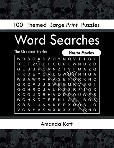 Halloween Themed Word Search (Word Searches - Horror Movies: 100 Themed Large Print Puzzles (The Greatest)