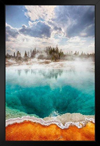 West Thumb Geyser Basin Yellowstone National Park Photo Art Print Framed Poster 14x20 inch ()