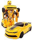 robots that you control - SuperPower Remote Control Car Transformers Bumblebee Classic Disguise Action Figure Hero Robot Toy with One Button Transformation