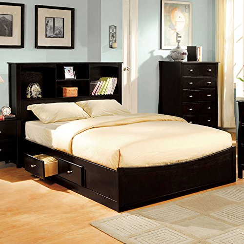 Brooklyn Transitional Style Espresso Finish Eastern King Size 6-Piece Bedroom Set by Furniture of America