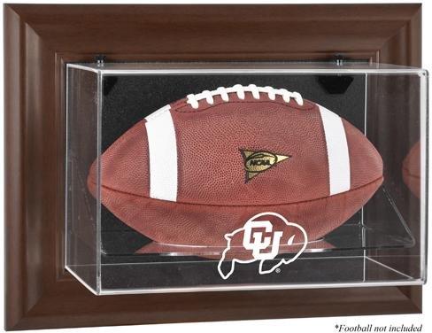 Case Display Football Buffalo (Sports Memorabilia Colorado Buffaloes Brown Framed Wall-Mountable Football Display Case - Fanatics Authentic Certified - College Football Logo Display Cases)