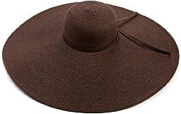 San Diego Hat Company Women\'s Ultrabraid X Large Brim Hat,Chocolate,One Size
