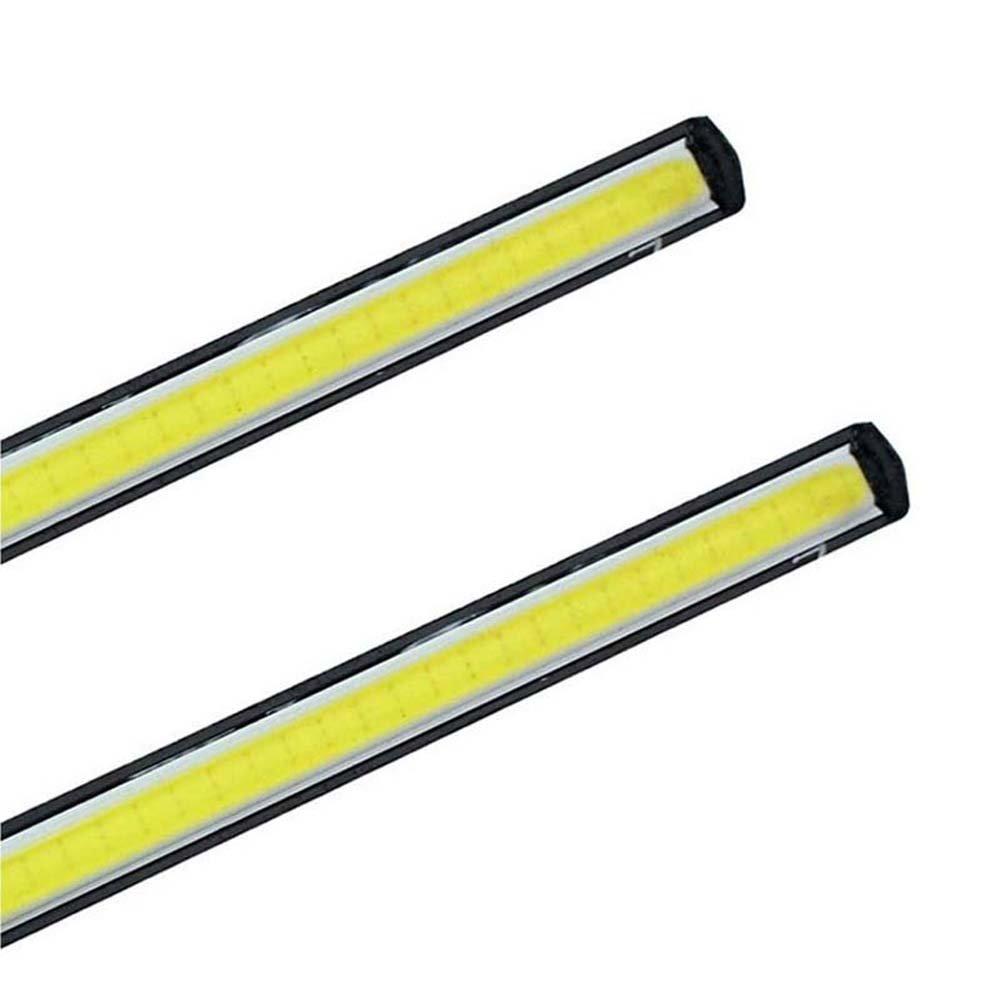SAIXUAN 2 Pieces Universal LED DRL Lights 12 Volt LED COB Daytime Running Light Bars 5W 6000K Cold White Daytime Lamp For Cars Trucks-1 Year Warranty 7.87