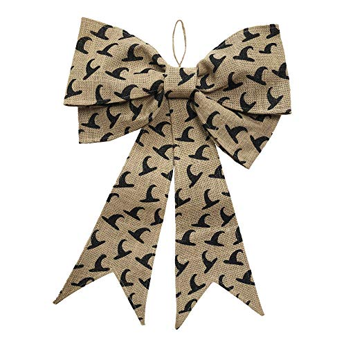 IOM Witches Hat Large Burlap Bow Welcome Hanger for Windows, Doors and More 21