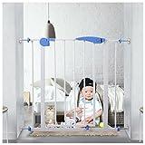 Baby Safety Gate Easy Locking System Door Walk Through Child Toddler Pet Metal