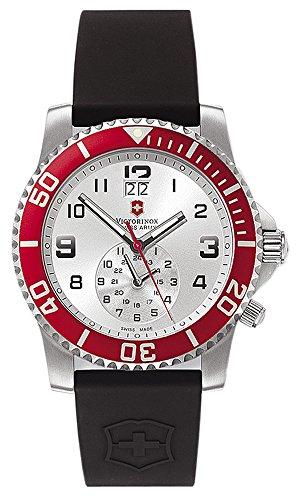 Victorinox Swiss Army Men's 241177 Maverick II Dual Time Silver Dial Watch by Victorinox