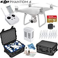 DJI Phantom 4 Quadcopter w/ eDigitalUSA Bundle: Includes Intelligent Flight Battery, SanDisk 64GB MicroSD Card, Go Professional Wheeled Carrying Case and more...