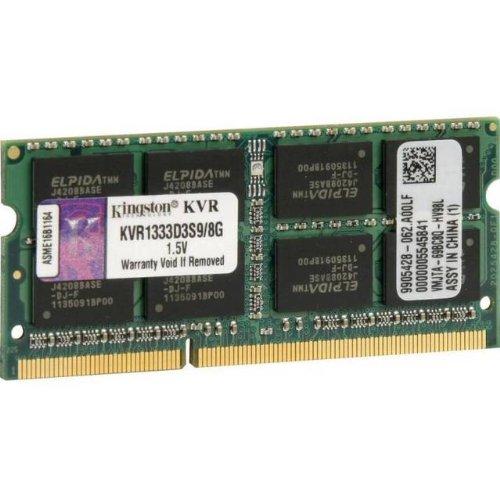 - Kingston KVR1333D3S9/8G DDR3-1333 SODIMM 8GB Notebook Memory