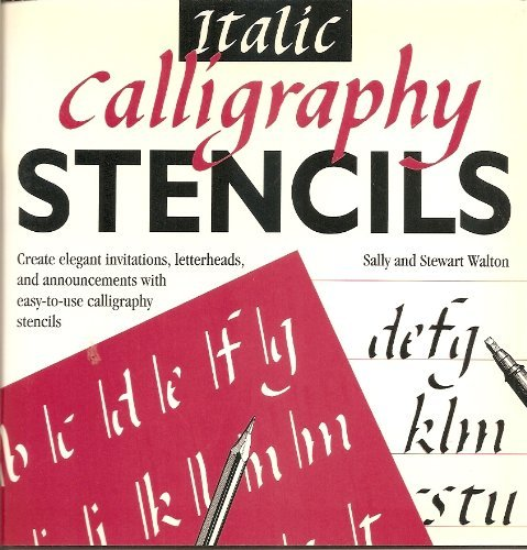 Italic Calligraphy Stencils Amazoncouk Stewart Walton Sally