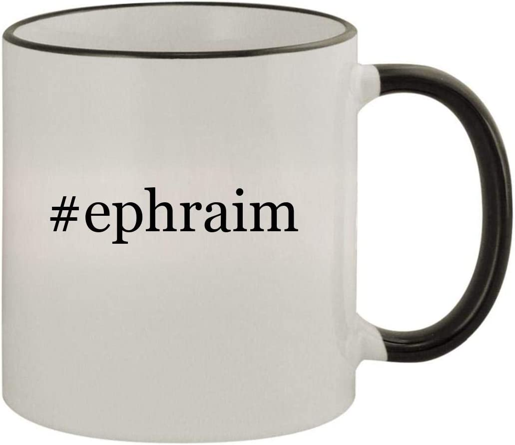 #ephraim - 11oz Ceramic Colored Rim & Handle Coffee Mug, Black 513Kx-8lrAL