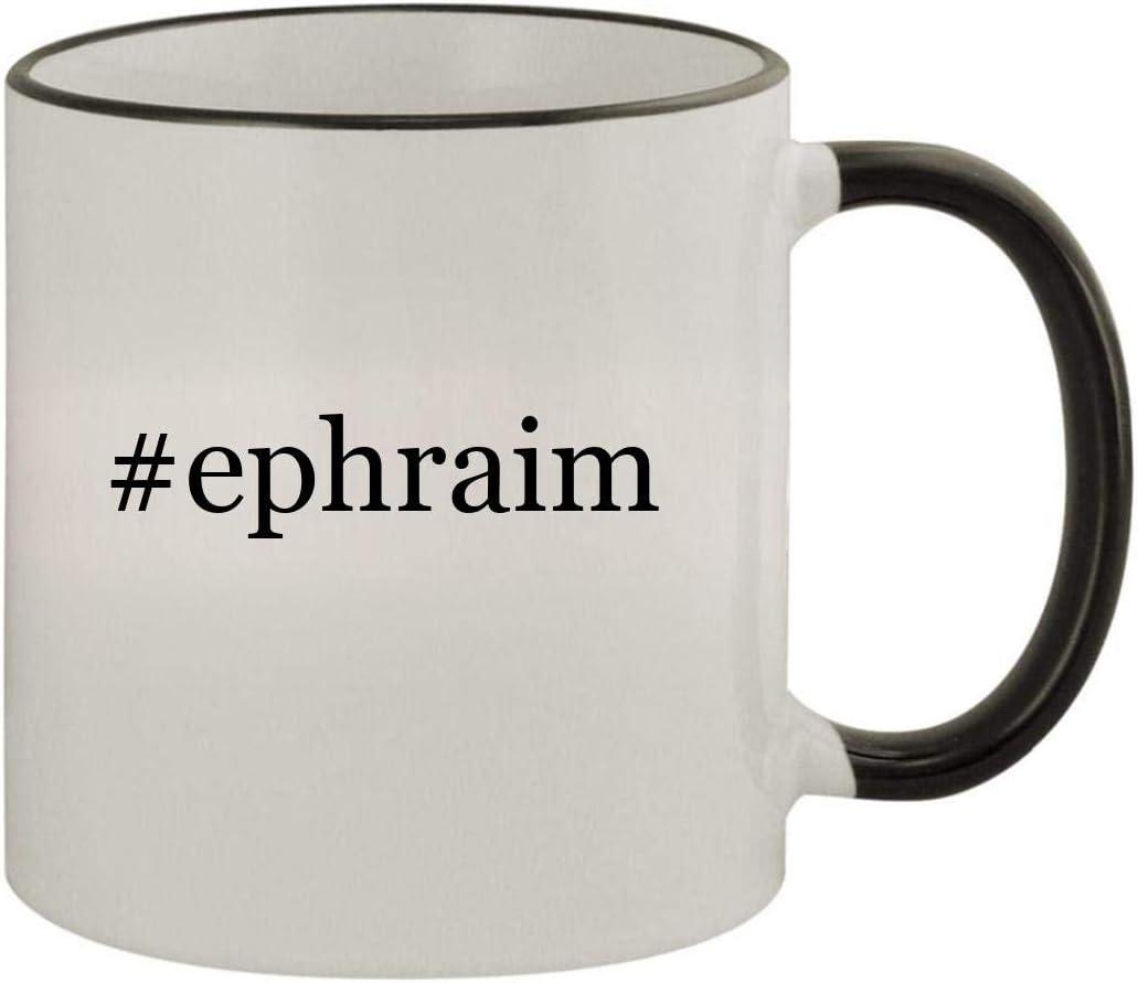 #ephraim - 11oz Ceramic Colored Rim & Handle Coffee Mug, Black 513Kx-8lrAL