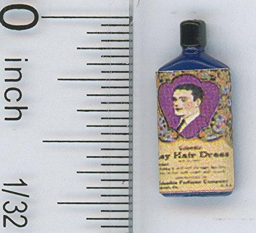 Price comparison product image Dollhouse Miniature Bottle of Vintage Hair Tonic by Hudson River Miniatures