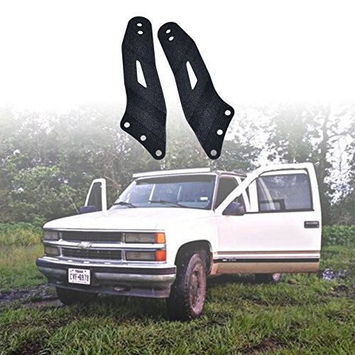 Omotor 1999-2006 Chevy Silverado/GMC Sierra Steel Metal Upper Roof Windshield Mounting Brackets for 52 Inch Cuved Led Work Light Bar SUV Offroad …