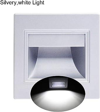 P12cheng Lámpara de pared, 1.5 W, 8 ledes, luz empotrable para escalera, camino, jardín, luz blanca cálida, luz blanca: Amazon.es: Iluminación