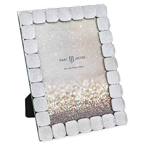 Isaac Jacobs Glittered Decorative Jewel Picture Frame, Photo Display & Home Décor (5x7)