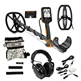 """Quest PRO Metal Detector with 11 x 9"""" RaptorS TurboD and 9.5 x 5.5 BladeS Coils"""