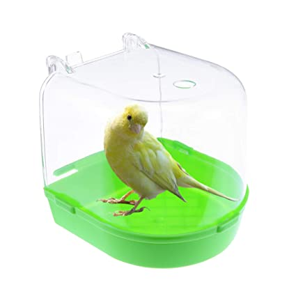 POPETPOP baño de pájaros para Jaula - bañera de Periquito con Tubo ...