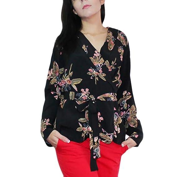 Logobeing Blusas Mujer Tallas Grandes Camisetas Algodón y Lino Mangas Largas Blusa Suelta Florais Elegantes Vestidos 2018 Casual Chic Tops: Amazon.es: Ropa ...